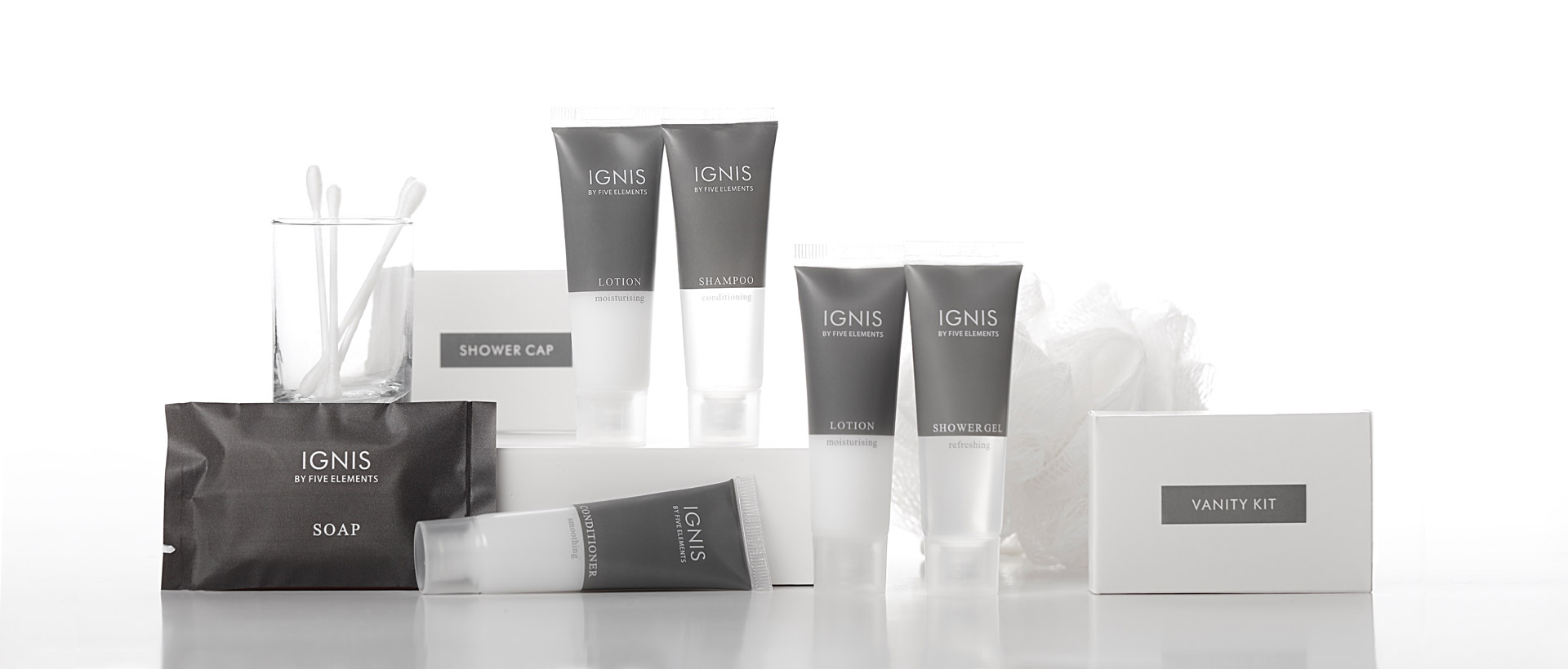 Luxury Hotel Toiletries India, Ignis by Five Elements®, Kimirica Hunter International