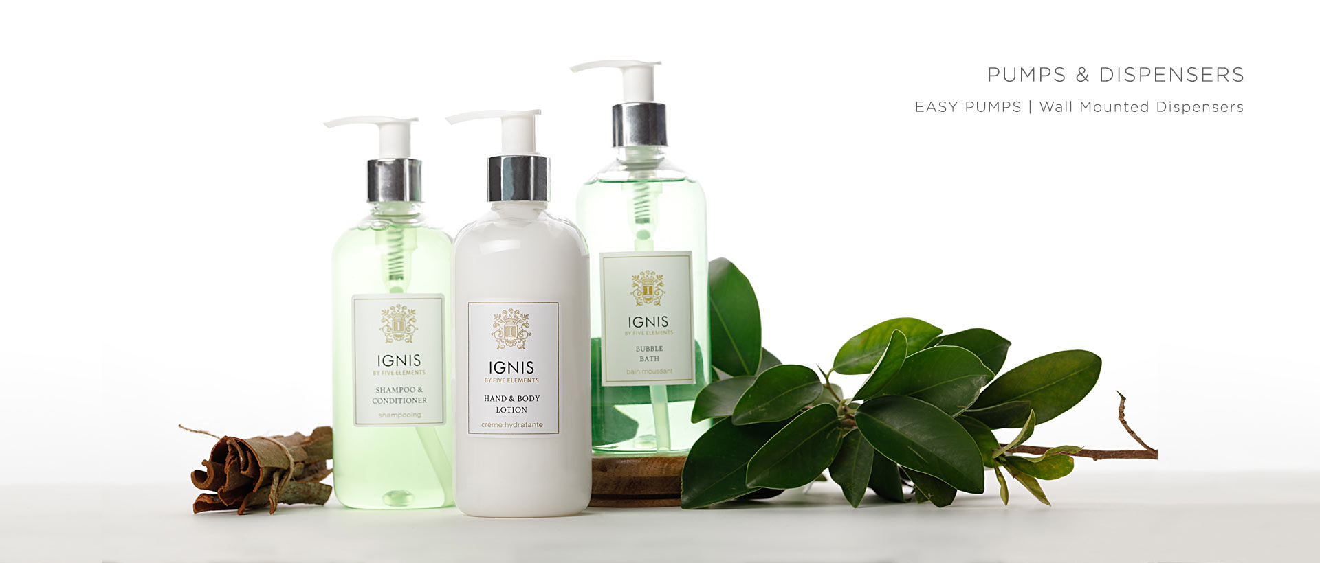 Hotel Toiletries India, Pumps and dispensers for hotels, Kimirica Hunter International, Luxury Hotel Amenities.