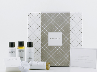 Luxury Hotel Amenities India, Customised Gift set Collection for Hotels, Kimirica Hunter International.